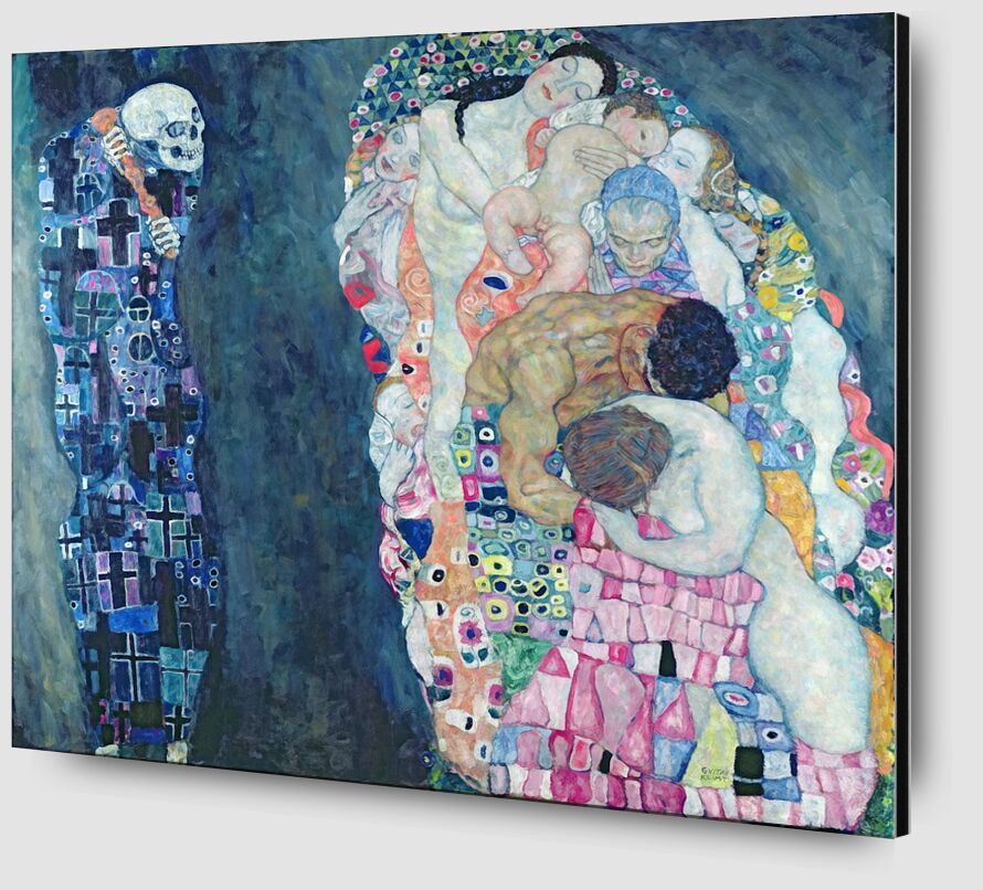 Death and Life, circa 1911 - Gustav Klimt desde AUX BEAUX-ARTS Zoom Alu Dibond Image