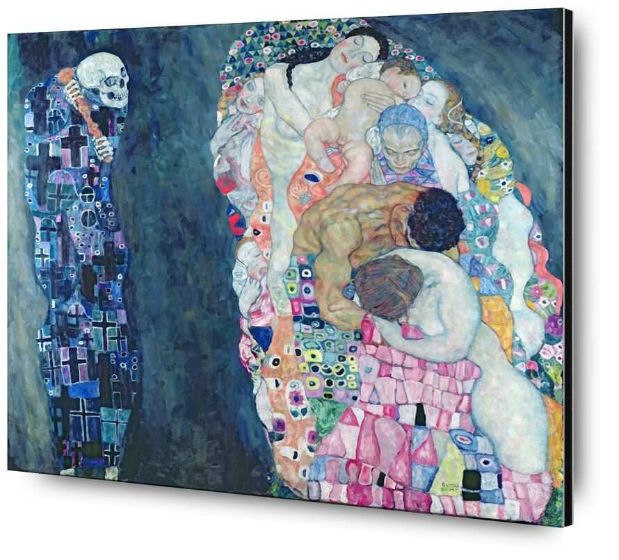 Death and Life, circa 1911 - Gustav Klimt desde AUX BEAUX-ARTS, Prodi Art, círculo de la vida, abstracto, pintura, muerte, vida, KLIMT