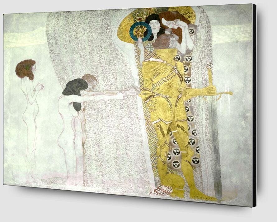Frise de Beethoven inspirée de la 9e symphonie de Beethoven - Gustav Klimt de AUX BEAUX-ARTS Zoom Alu Dibond Image