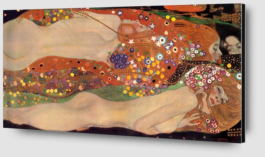 Water Serpents II - Gustav Klimt desde AUX BEAUX-ARTS Zoom Alu Dibond Image