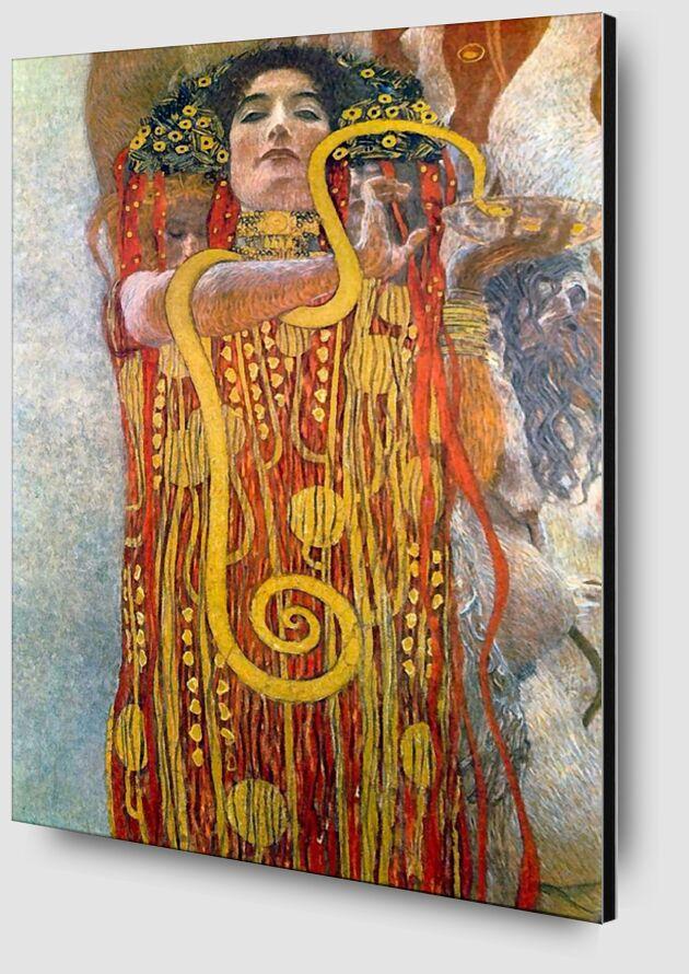 Hygiène - Gustav Klimt de AUX BEAUX-ARTS Zoom Alu Dibond Image