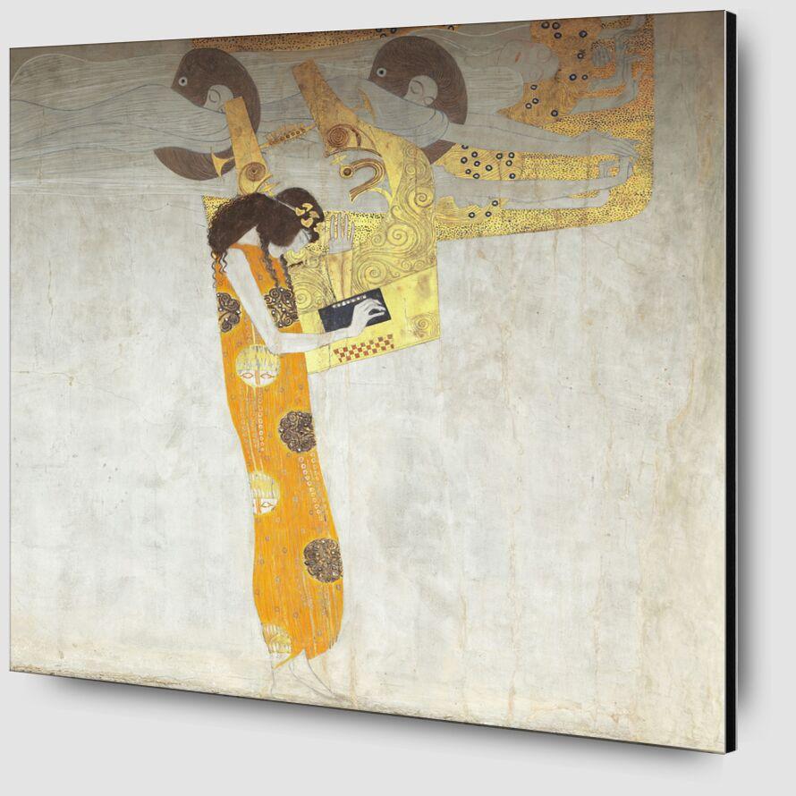 Beethovenfrieze, allégorie de la poésie - Gustav Klimt de AUX BEAUX-ARTS Zoom Alu Dibond Image