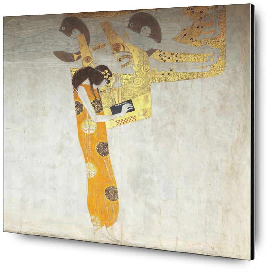 Beethovenfrieze, allégorie de la poésie - Gustav Klimt de AUX BEAUX-ARTS, Prodi Art, poésie, abstrait, femme, peinture, la musique, KLIMT