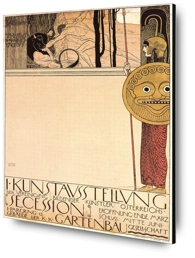 Poster for the First Art Exhibition of the Secession Art Movement, 1898 - Gustav Klimt from AUX BEAUX-ARTS, Prodi Art, KLIMT, poster, exhibition, motion, drawing