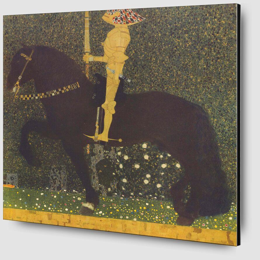 Life Is a Struggle (The Golden Knight) 1903 - Gustav Klimt from AUX BEAUX-ARTS Zoom Alu Dibond Image