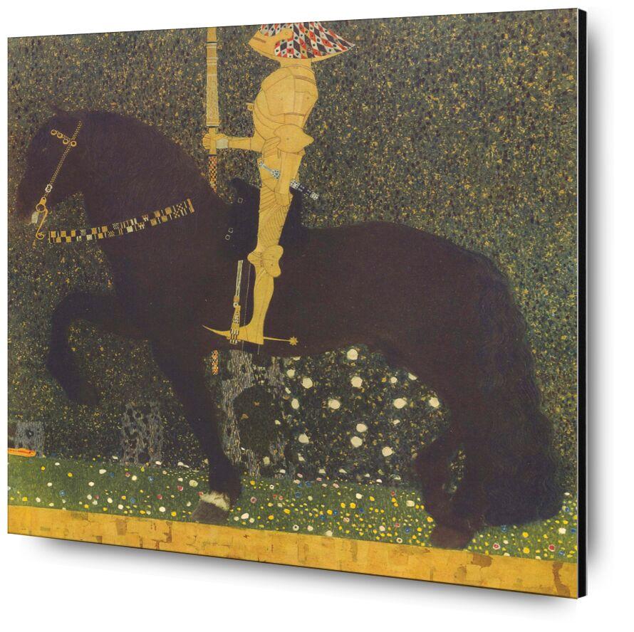 Life Is a Struggle (The Golden Knight) 1903 - Gustav Klimt from AUX BEAUX-ARTS, Prodi Art, KLIMT, horse, War, combat, gold, painting