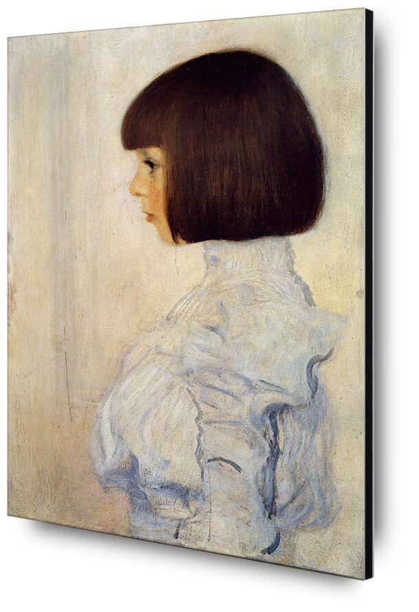 Portrait of Helene Klimt - Gustav Klimt from AUX BEAUX-ARTS, Prodi Art, KLIMT, woman, portrait, Brown, painting