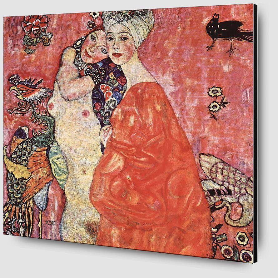 Les Petites Amies - Gustav Klimt de AUX BEAUX-ARTS Zoom Alu Dibond Image