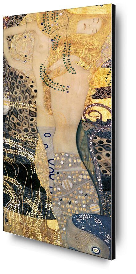 Water Snakes I - Gustav Klimt from AUX BEAUX-ARTS, Prodi Art, KLIMT, snake, woman, painting, gold, hair