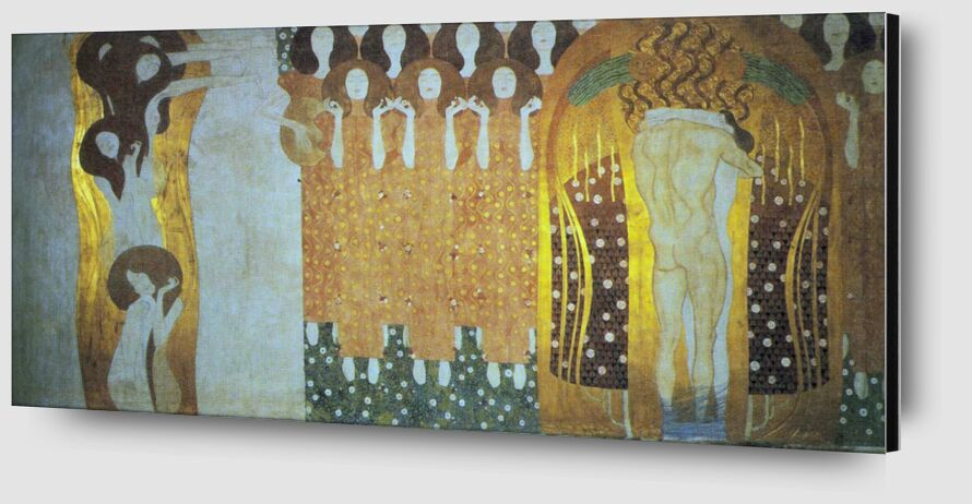 The Beethoven Frieze - Gustav Klimt from AUX BEAUX-ARTS Zoom Alu Dibond Image