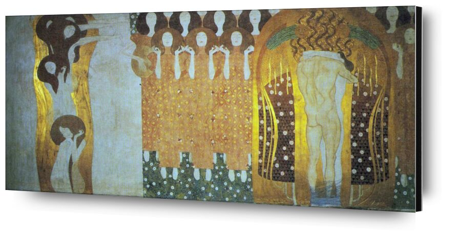The Beethoven Frieze - Gustav Klimt from AUX BEAUX-ARTS, Prodi Art, KLIMT, music, curly, beethoven, abstract, gold, woman