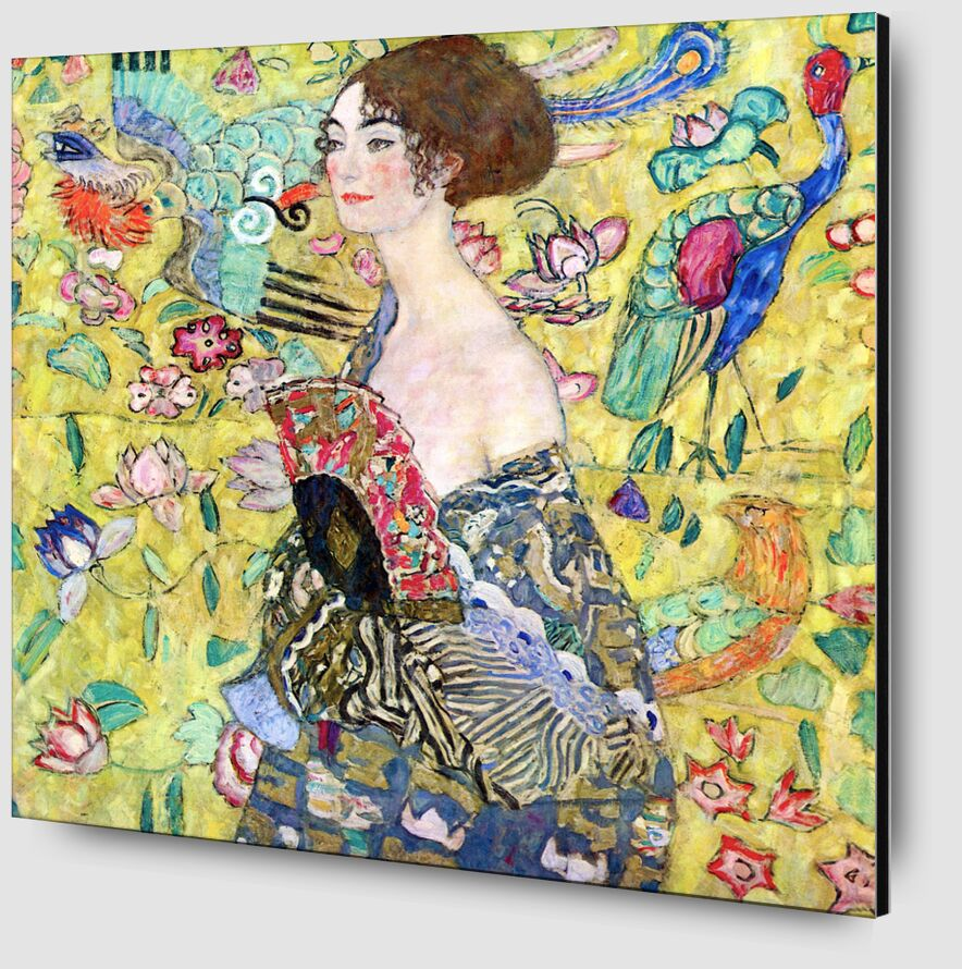 Lady with a Fan - Gustav Klimt from AUX BEAUX-ARTS Zoom Alu Dibond Image