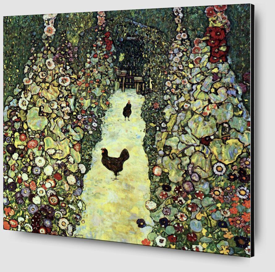 Chemin de Jardin avec des Poulets - Gustav Klimt de AUX BEAUX-ARTS Zoom Alu Dibond Image