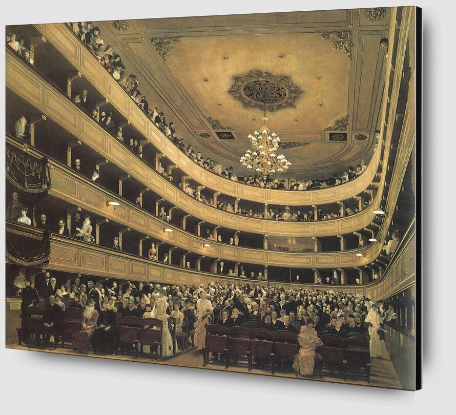 L'auditorium du Théâtre de l'Ancien Château, 1888 - Gustav Klimt de AUX BEAUX-ARTS Zoom Alu Dibond Image