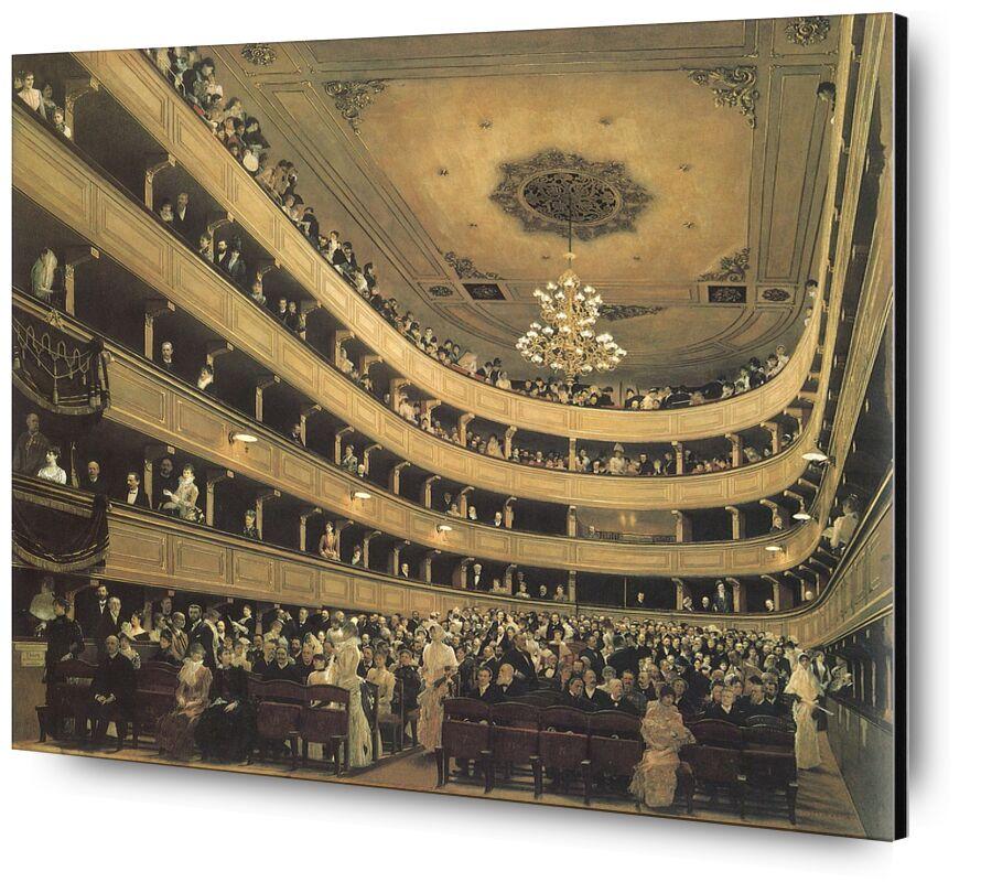 The Auditorium of the Old Castle Theatre, 1888 - Gustav Klimt from AUX BEAUX-ARTS, Prodi Art, KLIMT, chateau, painting, opera, theater, realistic