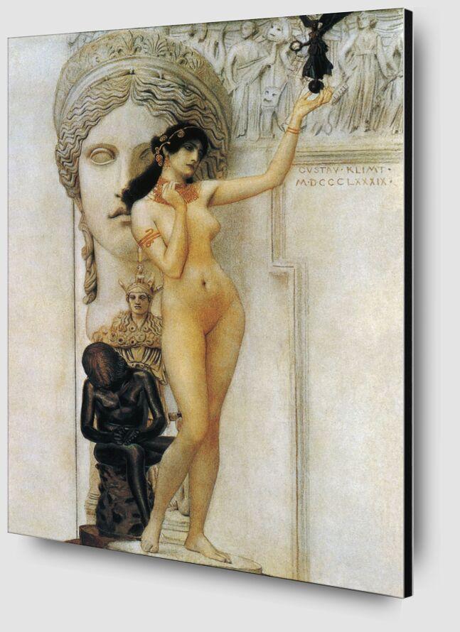 Allégorie de la Sculpture - Gustav Klimt de AUX BEAUX-ARTS Zoom Alu Dibond Image