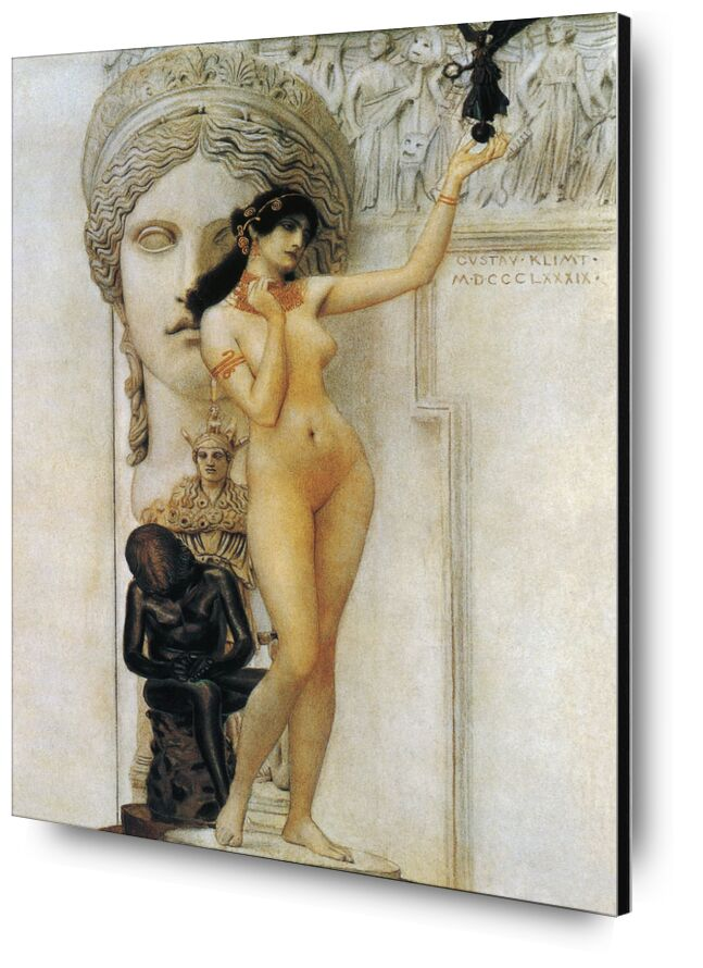 Allégorie de la Sculpture - Gustav Klimt de AUX BEAUX-ARTS, Prodi Art, KLIMT, sculpture, femme, nu, statue, romain, allégorie