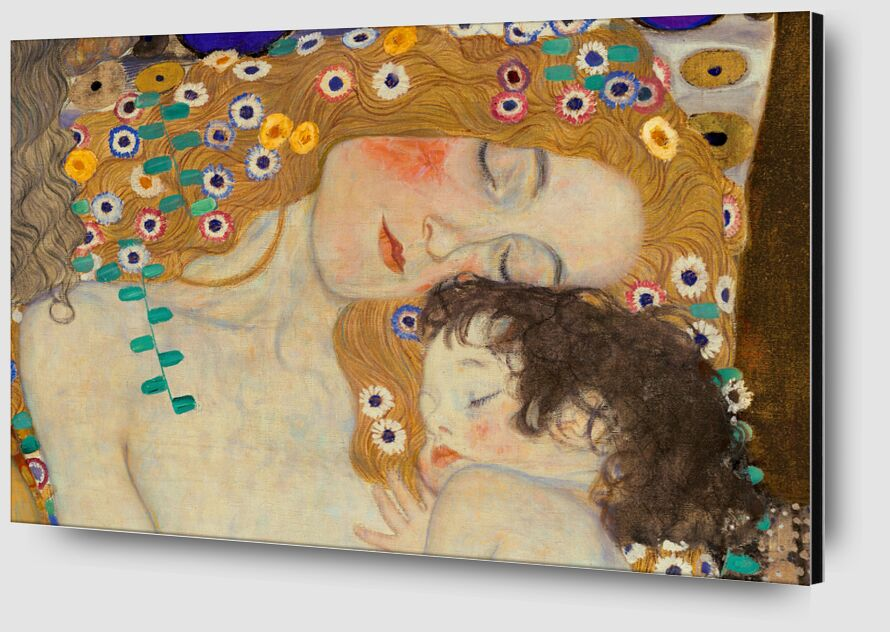 Mother and Child (detail from The Three Ages of Woman) - Gustav Klimt desde AUX BEAUX-ARTS Zoom Alu Dibond Image