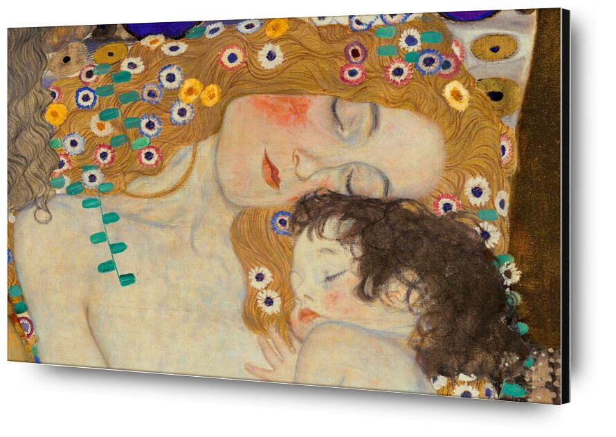 Mother and Child (detail from The Three Ages of Woman) - Gustav Klimt desde AUX BEAUX-ARTS, Prodi Art, KLIMT, madre, niño, pintura, flores