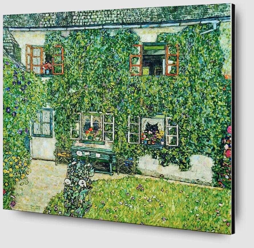 Maison forestière à Weissenbach sur l'Attersee-Lake - Gustav Klimt de AUX BEAUX-ARTS Zoom Alu Dibond Image