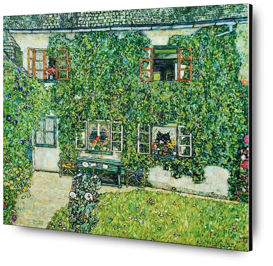 Forestry House in Weissenbach on Attersee-Lake - Gustav Klimt desde AUX BEAUX-ARTS, Prodi Art, KLIMT, casa, campo, naturaleza, casa de Campo