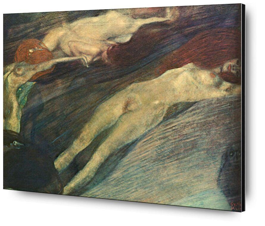 Moving Water - Gustav Klimt from AUX BEAUX-ARTS, Prodi Art, KLIMT, water, women, nude