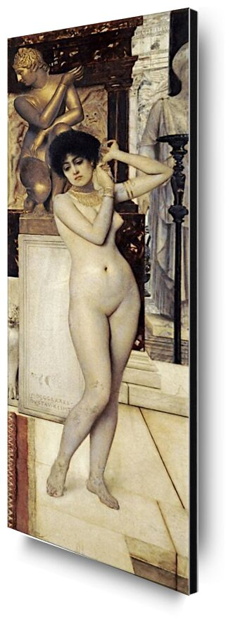 Study on Skigge and Eel for the Allegory of Sculpture, 1890 - Gustav Klimt from AUX BEAUX-ARTS, Prodi Art, KLIMT, sculpture, study, woman, nude
