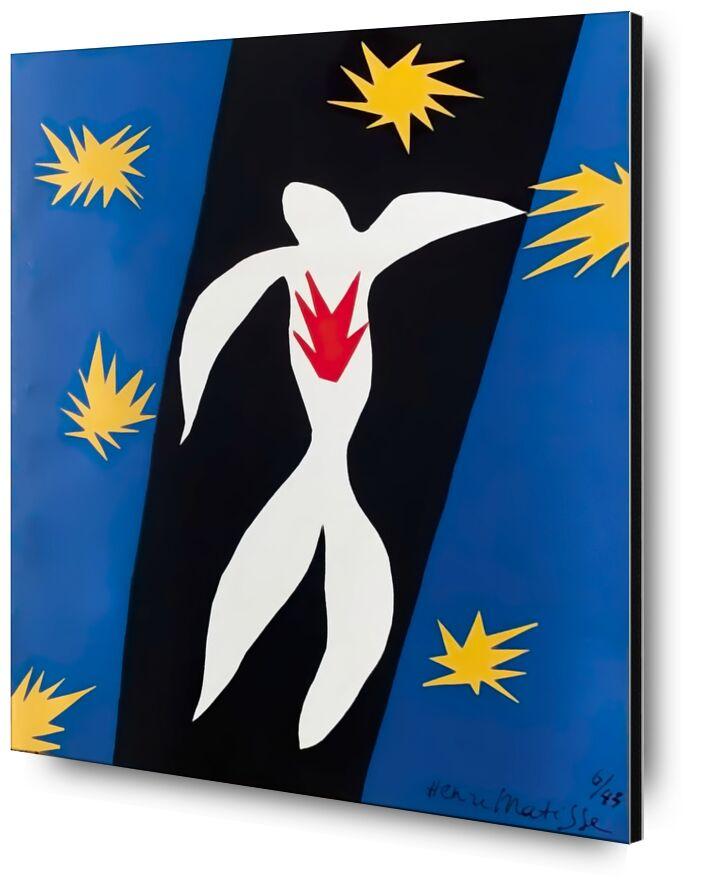 Fall of Icarus - Henri Matisse from AUX BEAUX-ARTS, Prodi Art, chutte, stars, drawing, Matisse
