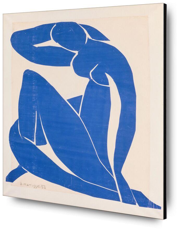 Blue Nude II - Henri Matisse desde AUX BEAUX-ARTS, Prodi Art, azul, desnudo, dibujo, pintura, Matisse