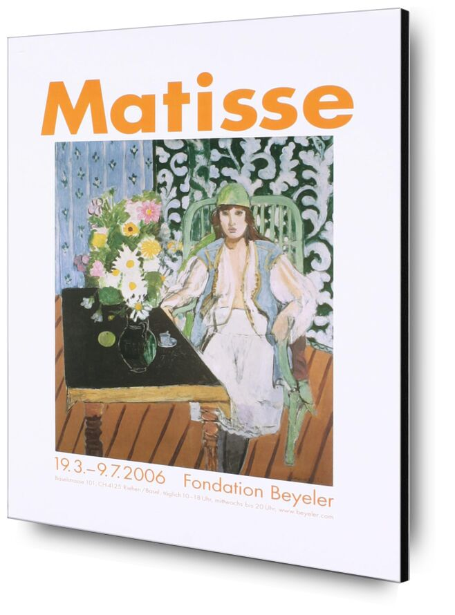 The Black Table - Henri Matisse from AUX BEAUX-ARTS, Prodi Art, Matisse, table, cooking, woman, hat, flowers