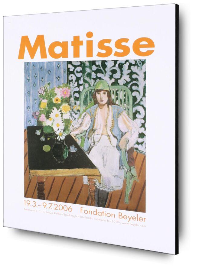 La Table Noire - Henri Matisse de AUX BEAUX-ARTS, Prodi Art, Matisse, table, cuisine, femme, chapeau, fleurs