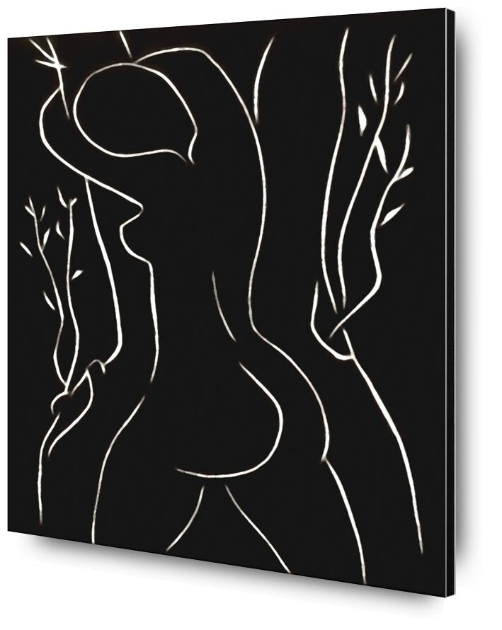 Pasiphae and Olive Tree - Henri Matisse from AUX BEAUX-ARTS, Prodi Art, Matisse, drawing, pencil, woman, nude, black-and-white