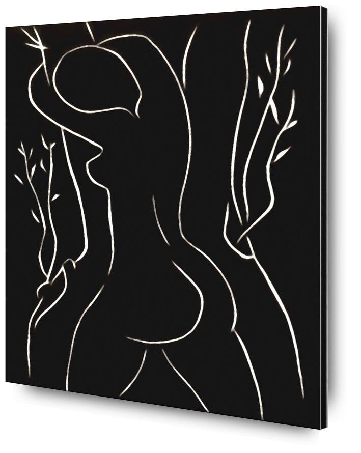Le Pasiphae et l'Olivier - Henri Matisse de AUX BEAUX-ARTS, Prodi Art, Matisse, dessin, crayon, femme, nu, noir et blanc