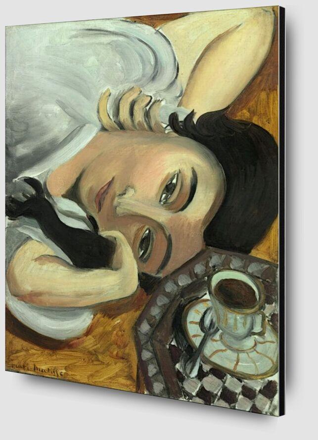 Lorette avec une Tasse de Café, 1917 - Henri Matisse de AUX BEAUX-ARTS Zoom Alu Dibond Image