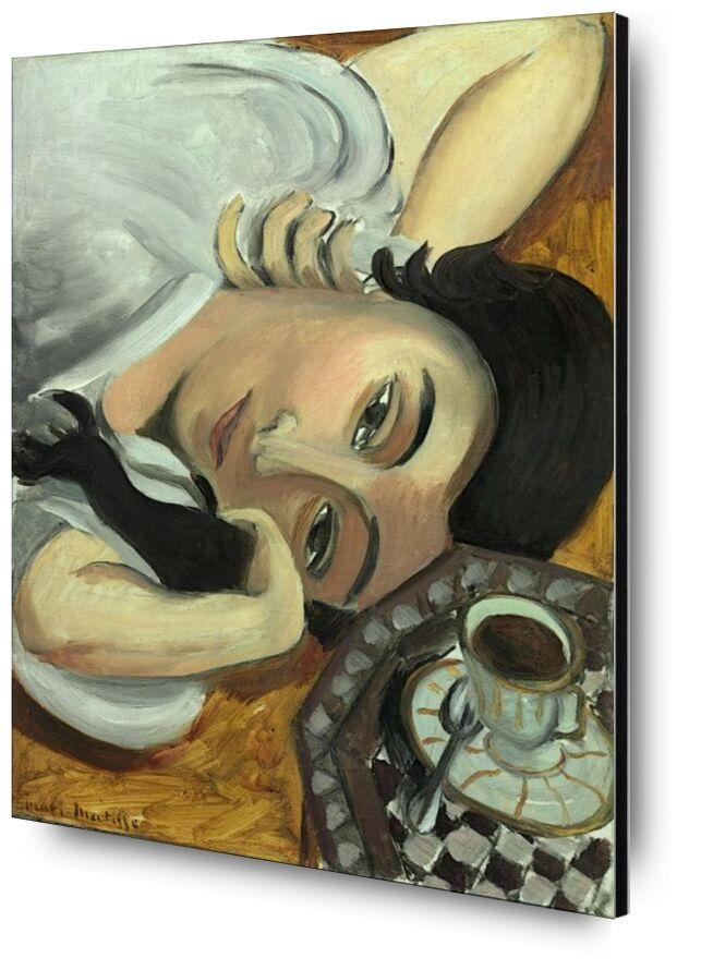 Lorette avec une Tasse de Café, 1917 - Henri Matisse de AUX BEAUX-ARTS, Prodi Art, Matisse, café, bar, cuisine, femme, brune