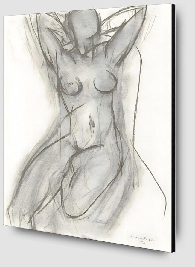 Nude in An Armchair, 1950 - Henri Matisse desde AUX BEAUX-ARTS Zoom Alu Dibond Image