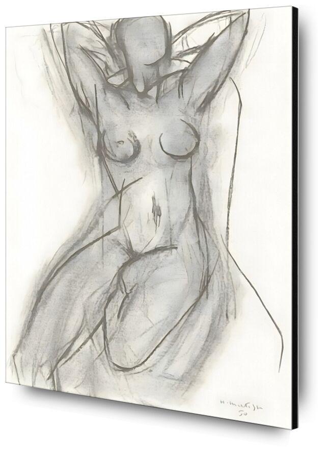 Nude in An Armchair, 1950 - Henri Matisse desde AUX BEAUX-ARTS, Prodi Art, blanco y negro, lápiz, dibujo, Matisse