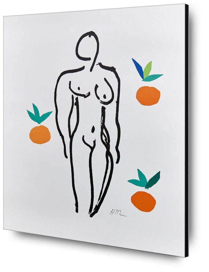 Verve, Nude with Oranges - Henri Matisse desde AUX BEAUX-ARTS, Prodi Art, Matisse, desnudo, mujer, naranja, Fruta, cocina