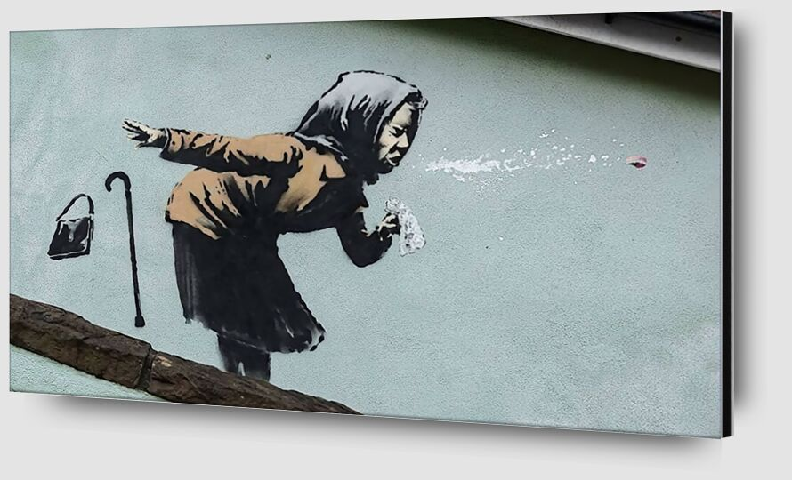 Aachoo!! - Banksy from AUX BEAUX-ARTS Zoom Alu Dibond Image