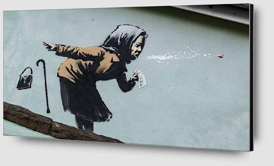 Atchoum !! - Banksy de AUX BEAUX-ARTS Zoom Alu Dibond Image