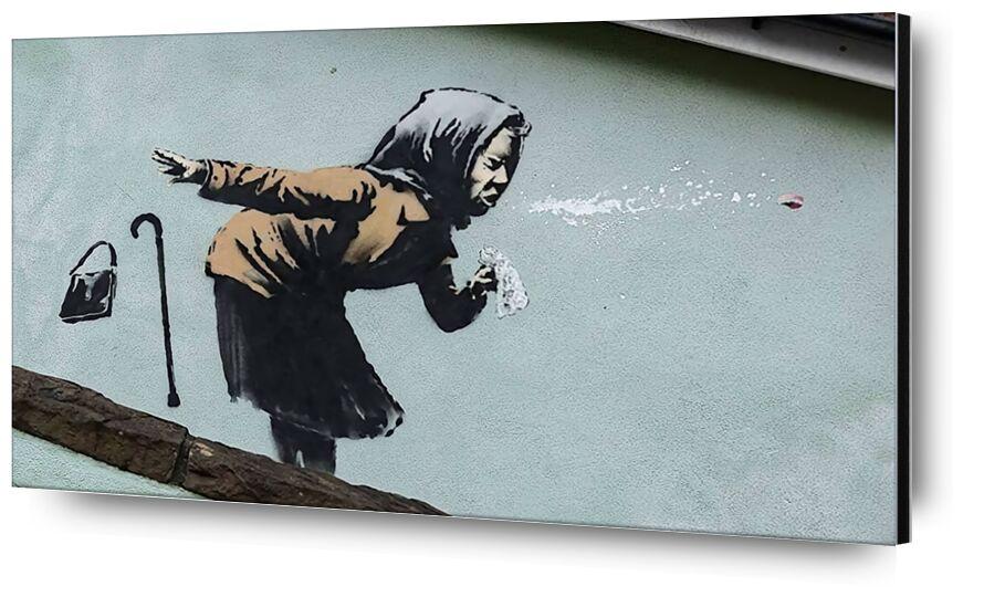 Aachoo!! - Banksy from AUX BEAUX-ARTS, Prodi Art, banksy, graffiti, street art, woman, sneezing