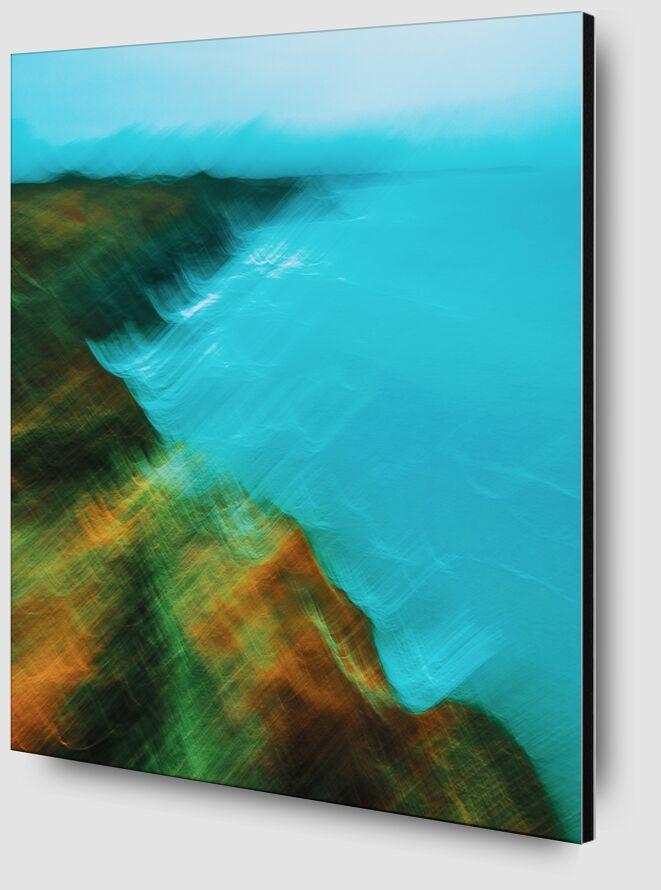 Bord de mer à Cancale en icm de Céline Pivoine Eyes Zoom Alu Dibond Image