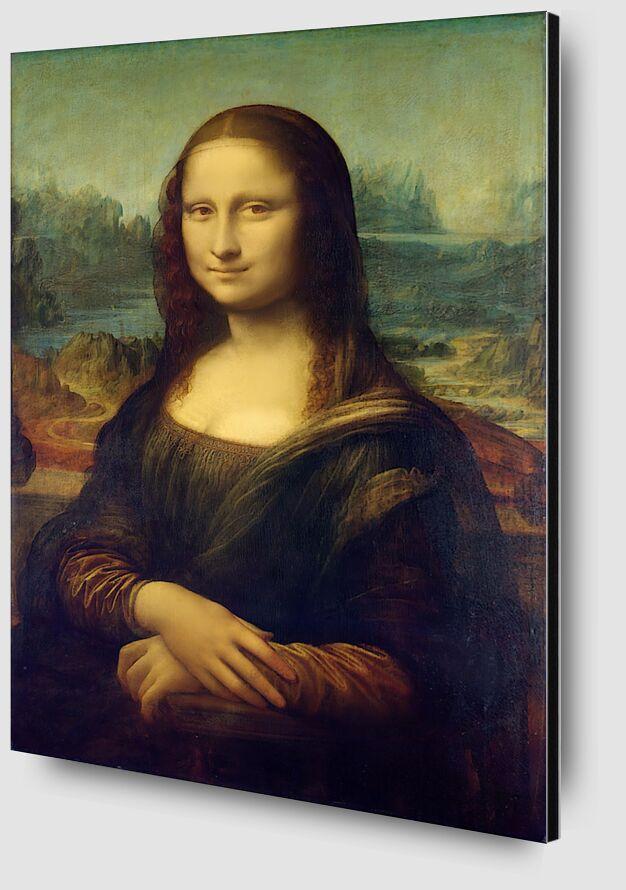 Mona Lisa - Leonardo da Vinci from AUX BEAUX-ARTS Zoom Alu Dibond Image