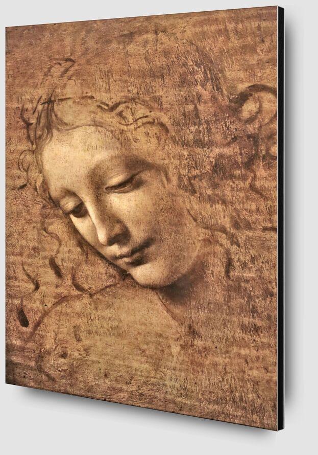 La Scapigliata - Léonard de Vinci de AUX BEAUX-ARTS Zoom Alu Dibond Image