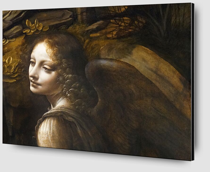 Details of The Angel, The Virgin of the Rocks - Leonardo da Vinci desde AUX BEAUX-ARTS Zoom Alu Dibond Image