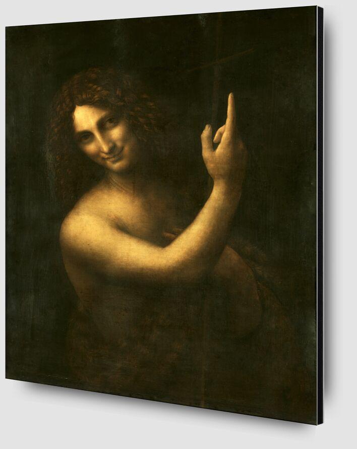Saint Jean Baptiste - Léonard de Vinci de AUX BEAUX-ARTS Zoom Alu Dibond Image