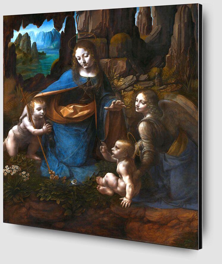 The Virgin of the Rocks - Leonardo da Vinci from AUX BEAUX-ARTS Zoom Alu Dibond Image
