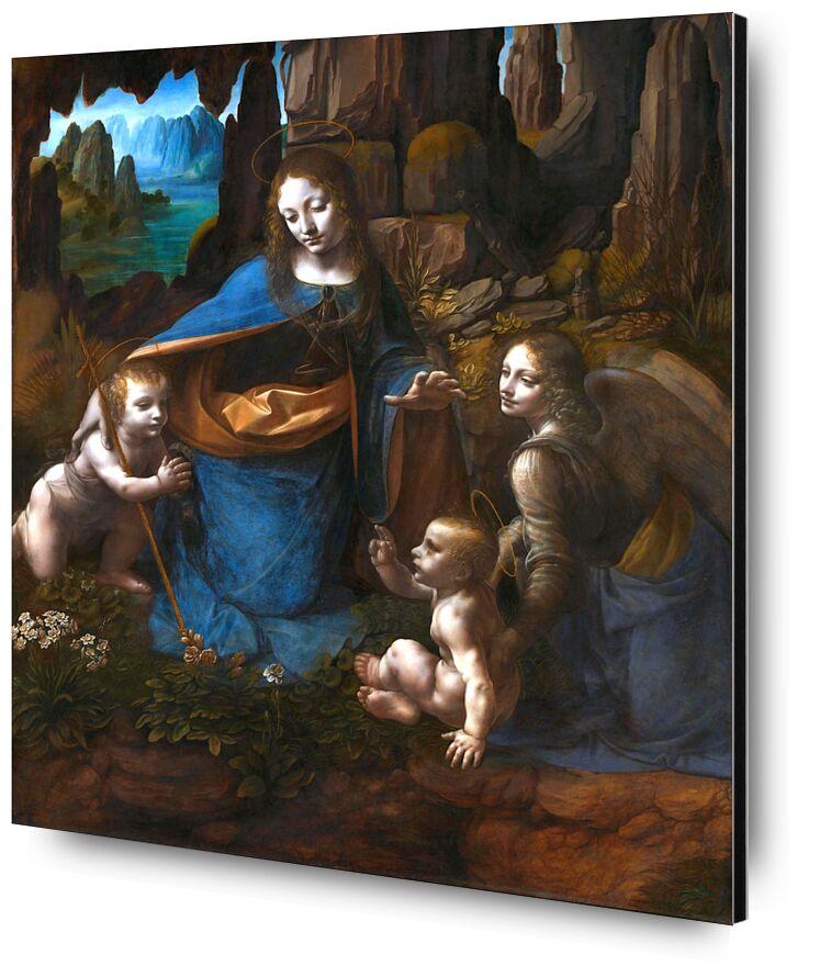 The Virgin of the Rocks - Leonardo da Vinci from AUX BEAUX-ARTS, Prodi Art, Leonard de Vinci, marie, ange, christ, paradise, John the baptist