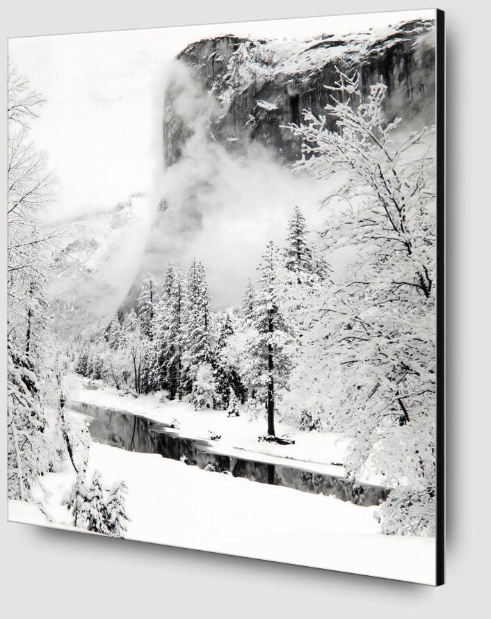 El Capitan, Série d'Hiver du Parc National de Yosemite, Californie - Ansel Adams de AUX BEAUX-ARTS Zoom Alu Dibond Image