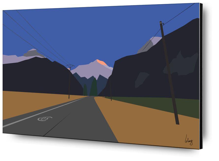 Le Vert de Benoit Lelong, Prodi Art, Voyage, route, isere, montagnes, campagne, oians, bourg d'oisans